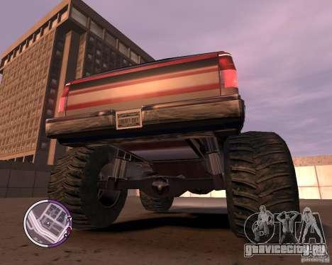 Monster from San Andreas для GTA 4 вид сбоку