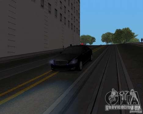 Mercedes Benz S500 w221 SE для GTA San Andreas вид справа