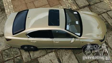 Lexus GS350 2013 v1.0 для GTA 4 вид справа