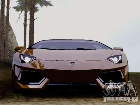 Lamborghini Aventador LP700-4 Vossen для GTA San Andreas вид слева