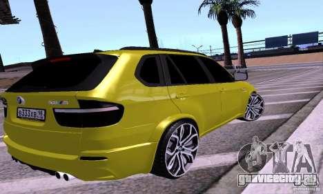 BMW X5М Gold для GTA San Andreas вид слева