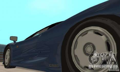 Jaguar XJ220 для GTA San Andreas вид изнутри