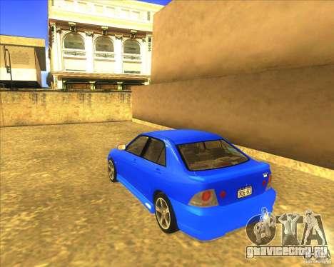 Toyota Altezza RS200 1998 для GTA San Andreas вид слева