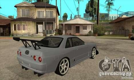 Nissan Skyline GT R R32 для GTA San Andreas вид справа