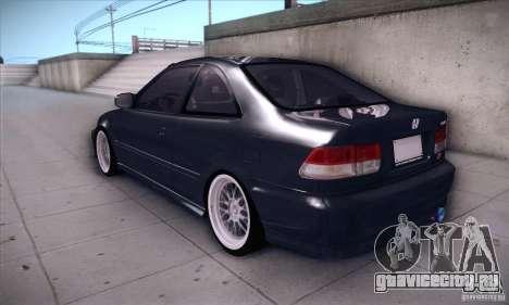 Honda Civic 6Gen для GTA San Andreas вид сзади слева
