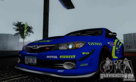 2008 Subaru Impreza Tuneable для GTA San Andreas двигатель