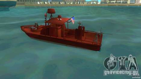 Patrol Boat River Mark 2 (Player_At_Guns) для GTA Vice City вид слева