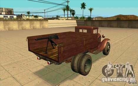ГАЗ-АА для GTA San Andreas вид сзади слева