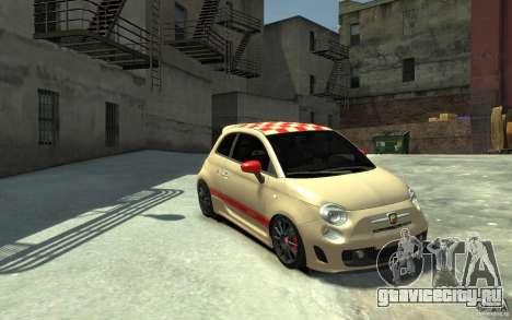Fiat 500 Abarth Esseesse V1.0 для GTA 4 вид сзади