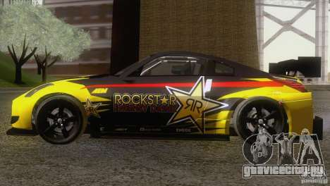 Nissan 350Z Rockstar для GTA San Andreas вид сзади слева