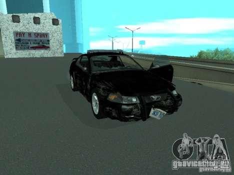Ford Mustang GT Police для GTA San Andreas вид сбоку