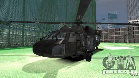 Sikorsky UH-60 Black Hawk для GTA 4 вид слева