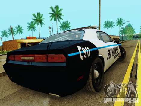 Dodge Challenger SRT8 2010 Police для GTA San Andreas вид справа