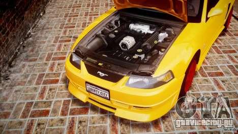 Ford Mustang SVT Cobra v1.0 для GTA 4 вид изнутри