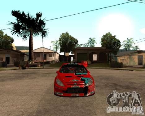 Peugeot 307 WRC для GTA San Andreas вид справа