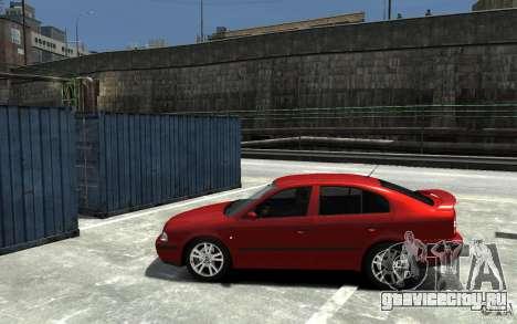 Skoda Octavia v.1.0 для GTA 4 вид изнутри