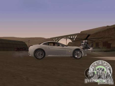 Ferrari California v1 для GTA San Andreas вид слева
