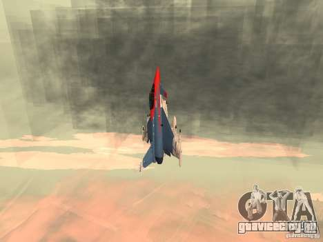 Eurofighter Typhoon для GTA San Andreas вид сзади слева