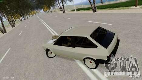 ВАЗ 2108 Sport для GTA San Andreas вид изнутри