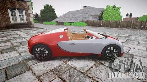 Bugatti Veyron Grand Sport [EPM] 2009 для GTA 4 вид слева