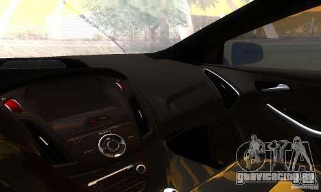 Ford Focus 3 для GTA San Andreas вид изнутри