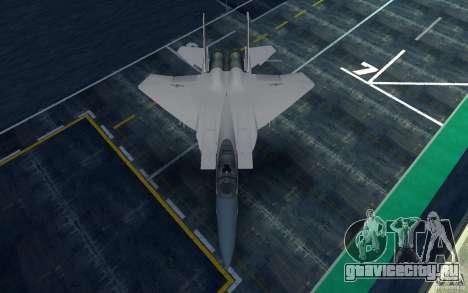 F-15 для GTA San Andreas вид сзади слева