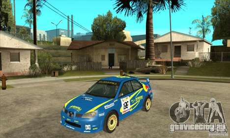 Subaru Impreza STi WRC wht2 для GTA San Andreas вид сзади слева