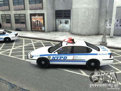 Chevrolet Impala NYCPD POLICE 2003 для GTA 4 вид слева