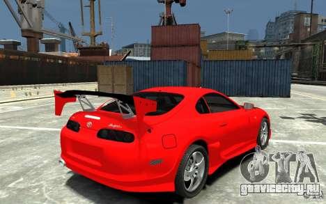 Toyota Supra Black Tuning для GTA 4 вид справа