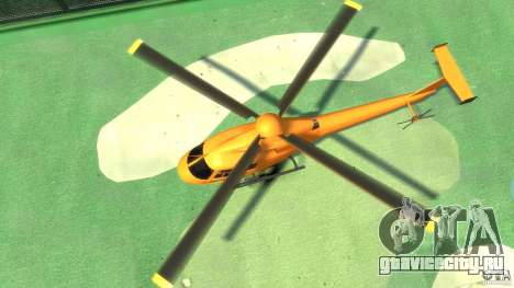 Helicopter From NFS Undercover для GTA 4 вид сзади