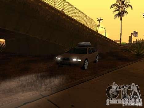 Skoda Octavia для GTA San Andreas салон
