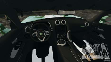 SRT Viper GTS 2013 для GTA 4 вид сзади