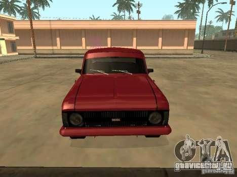 АЗЛК 412 IE для GTA San Andreas вид сзади слева