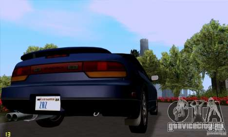 Nissan SX 240 Full Stock для GTA San Andreas вид сзади слева