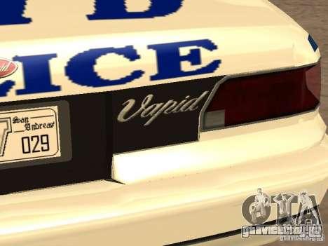 Полиция из гта4 для GTA San Andreas вид снизу