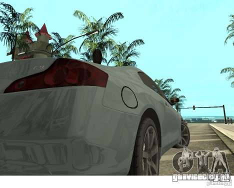 Infiniti G35 Coupe для GTA San Andreas вид сзади слева