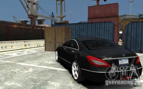 Mercedes-Benz CLS 350 для GTA 4 вид сзади слева