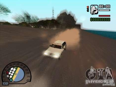 Дым из под колес, как в NFS ProStreet для GTA San Andreas третий скриншот