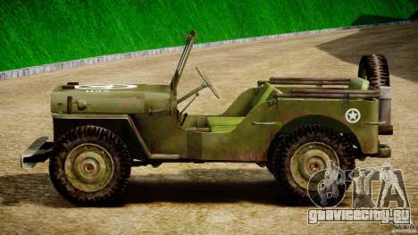 Jeep Willys [Final] для GTA 4 вид сбоку