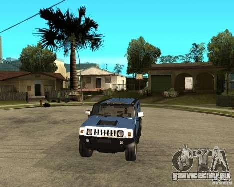 AMG H2 HUMMER для GTA San Andreas вид сзади