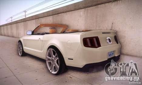 Ford Mustang 2011 Convertible для GTA San Andreas вид сзади слева