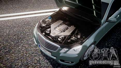 Mercedes-Benz E63 2010 AMG v.1.0 для GTA 4 вид снизу