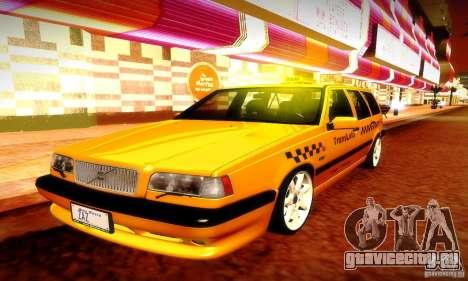 Volvo 850 R Taxi для GTA San Andreas вид изнутри