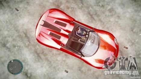 Porsche 918 Spyder Concept для GTA 4 вид сзади слева