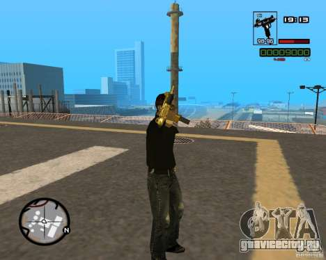Micro Uzi Gold для GTA San Andreas четвёртый скриншот
