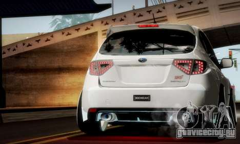 Subaru Impreza WRX Camber для GTA San Andreas вид сверху