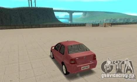 Fiat Siena HLX 1.8 Flex для GTA San Andreas вид слева