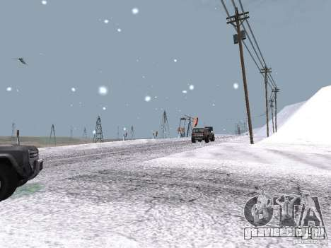 Снег для GTA San Andreas