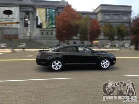 Ford Taurus FBI 2012 для GTA 4 вид изнутри