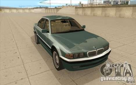 BMW 750iL 1995 для GTA San Andreas вид сзади